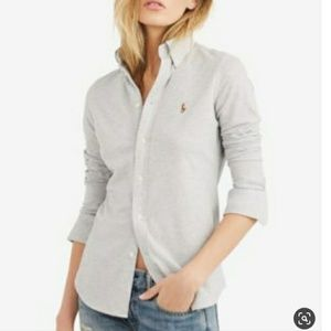 Ralph Lauren Knit Oxford Button Front